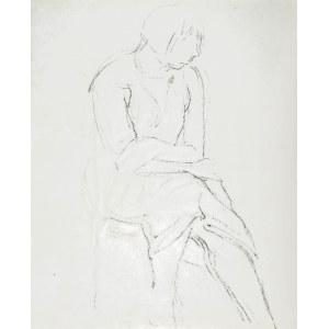Leopold GOTTLIEB (1883-1934), Szkic siedzącej kobiety