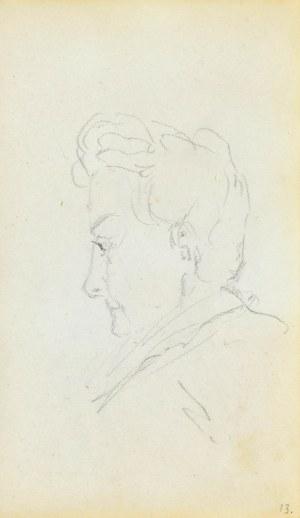 Jacek MALCZEWSKI (1854-1929), Szkic głowy młodego mężczyzny z lewego profilu