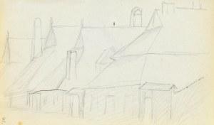 Jacek MALCZEWSKI (1854-1929), Pierzeja parterowych domów małego miasta
