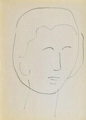 Jerzy PANEK (1918-2001), Głowa młodej kobiety IV, 1963