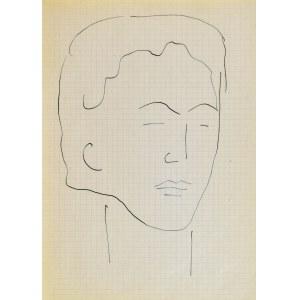 Jerzy PANEK (1918-2001), Głowa młodej kobiety III, 1963