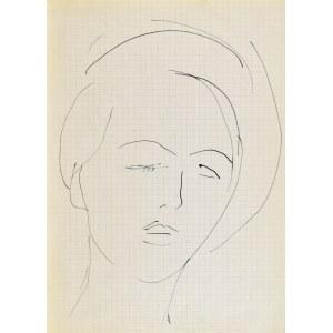 Jerzy PANEK (1918-2001), Głowa młodej kobiety z zamkniętymi oczami, 1963
