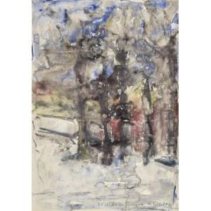 Krystyna PELLETIER (1914-2007), Pejzaż zimowy z Głuszycy, 1964
