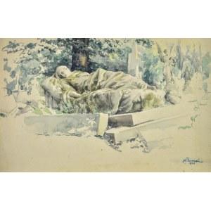 Józef PIENIĄŻEK (1888-1953), Posąg śpiącej kobiety, 1943