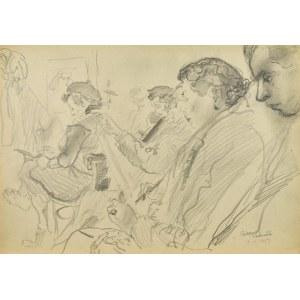 Kasper POCHWALSKI (1899-1971), Lekcja rysunku,1953