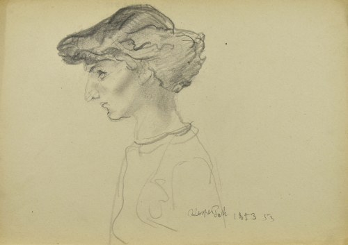 Kasper POCHWALSKI (1899-1971), Portret kobiety z profilu, 1953