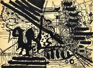 Kazimierz PODSADECKI (1904-1970), Kompozycja, 1958