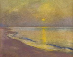Władysław SERAFIN (1905-1988), Zachód słońca nad zatoką
