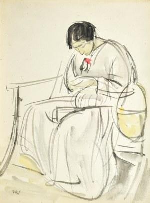 Wojciech WEISS (1875-1950), Siedząca Aneri, 1913