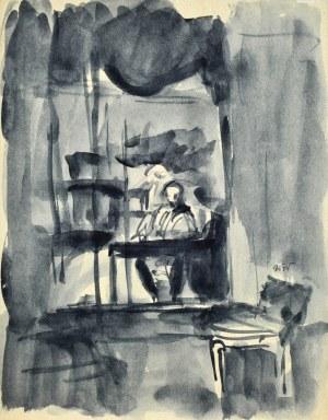 Wojciech WEISS (1875-1950), Autoportret we wnętrzu, ok. 1930