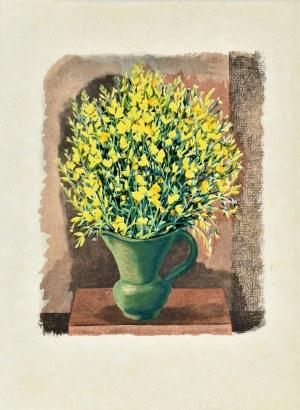 Mojżesz KISLING (1891 - 1953), Kwiaty w zielonym wazonie