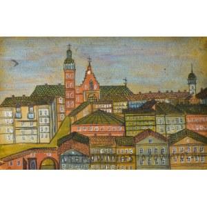 Nikifor KRYNICKI (1895-1968), Pejzaż miasta
