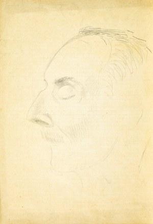Henryk UZIEMBŁO(1879-1949), Szkic głowy z lewego profilu