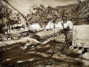Stanisław WYSPIAŃSKI(1869-1907), Chaty w Grębowie, 1900