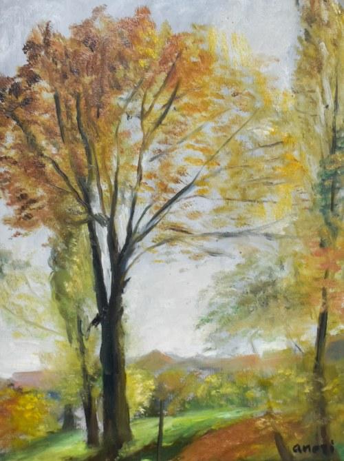 Irena WEISS – ANERI (1888-1981), Jesiene drzewa, 1950