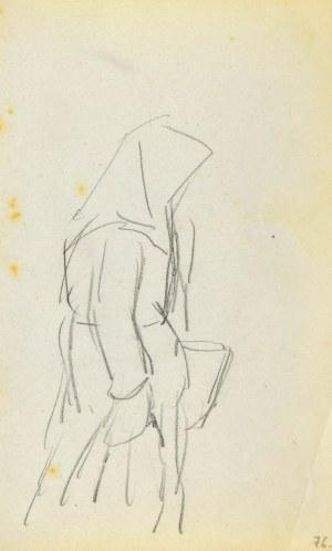 Jacek MALCZEWSKI (1854-1929), Wieśniaczka w chuście ukazana z prawego profilu