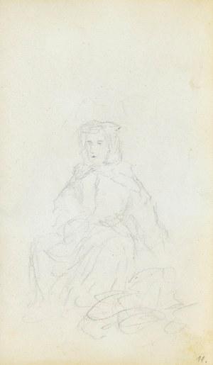 Jacek MALCZEWSKI (1854-1929), Siedząca kobieta
