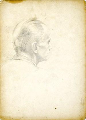 Ludwik MACIĄG (1920-2007), Szkic głowy mężczyzny