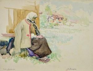 Józef PIENIĄŻEK (1888-1953), Babka z Jaworek, 1933