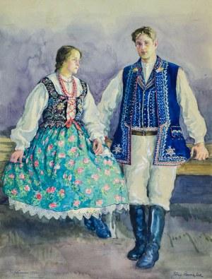 Józef PIENIĄŻEK (1888-1953), Krakowiacy z Krzesławic, 1932