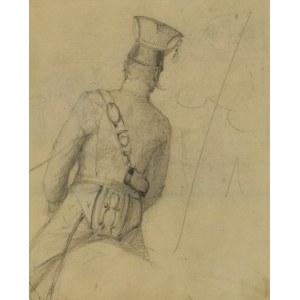 Stanisław KAMOCKI (1875-1944), Studium korpusu ułana siedzącego na koniu, ukazanego od tyłu, 6 II (lub XI) 1894