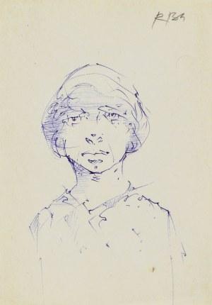 Roman BANASZEWSKI (1932-2021), Szkic popiersia kobiety