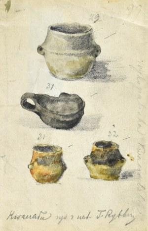 Tadeusz RYBKOWSKI (1848-1926), Cztery naczynia z wykopalisk w Kwaczale