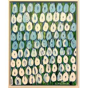 Edward Dwurnik, Błękitne tulipany, 2018