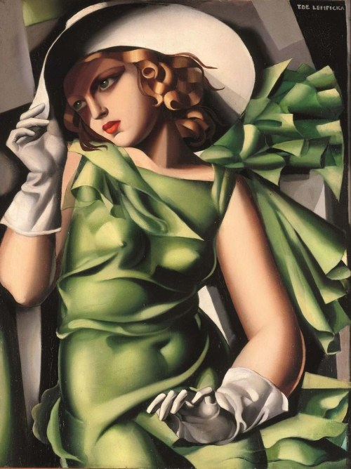 Tamara Łempicka, Young Lady with Gloves (48/100), 2014