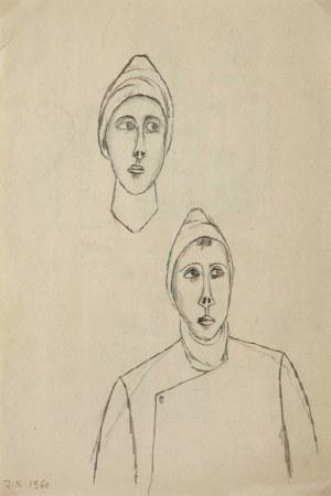 Jerzy Nowosielski, Szkic dwustronny, 1960