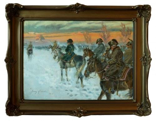 Jerzy Kossak, Powrót Napoleona z Moskwy, 1940