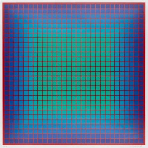 Julian Stańczak, Conferring Blue