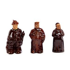 Zestaw 3 karafek w formie postacji sarmaty, mnicha i myśliwego - Milenium