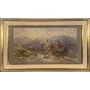 Maksymilian Antoni Piotrowski(1813-1875),''Pejzaż morski znad Neapolu''