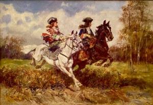 Jan Chełmiński(1851-1925), ''Para jeźdźców''