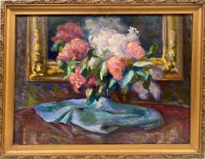 Adam Hannytkiewicz(1887-1946), ''Kwiaty w wazonie''