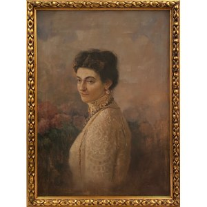 Kazimierz Szmyt(1860-1941), ''Portret Marii Paruszewskiej''