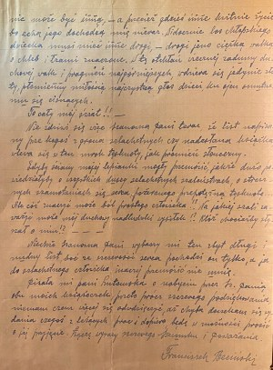 List Franciszka Becińskiego