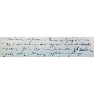 Karta pocztowa Feliksa Nowowiejskiego(1877-1946)