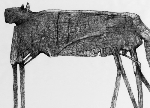 Zdzisław Beksiński - Zwierz - rysunek modyfikowany komputerowo (2000-2004r.)