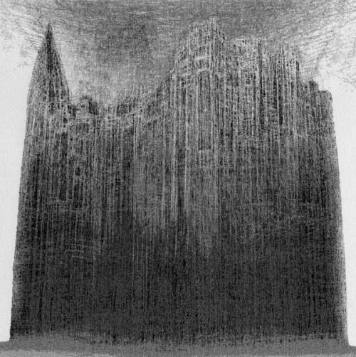 Zdzisław Beksiński - Katedra - rysunek modyfikowany komputerowo (2000-2004r.)