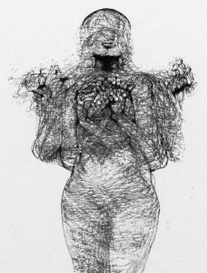 Zdzisław Beksiński - Rozedrgana - rysunek modyfikowany komputerowo (2000-2004r.)