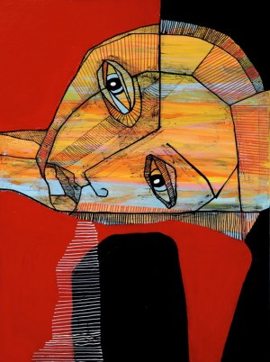 Ewelina LOCHMAN, Portret czerwony, 2021 r.