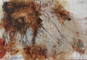 Adam NOWACKI, Mourning (insp. by Hans Baldung, gen. Grien 'Mourning Christi'), 2020 r.