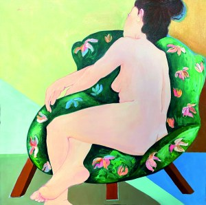Aleksandra ADAMCZAK, Zielony fotel, 2021 r.