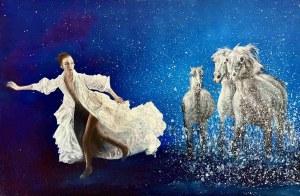 Grażyna Jeżak, Konie w galopie, 2020
