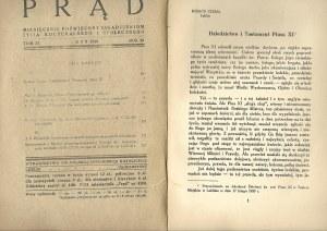 PRĄD Rok 26 tom 37 Luty 1939 MIESIĘCZNIK ŻYCIA KULTURALNEGO I SPOŁECZNEGO