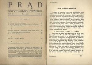 PRĄD Rok 26 tom 35 Maj 1938 MIESIĘCZNIK ŻYCIA KULTURALNEGO I SPOŁECZNEGO