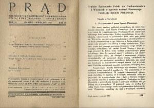 PRĄD Rok 25 tom 35 Marzec-Kwiecień 1938 MIESIĘCZNIK ŻYCIA KULTURALNEGO I SPOŁECZNEGO
