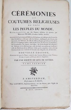 PICART BERNARD CEREMONIES ET COUTUMES 1789